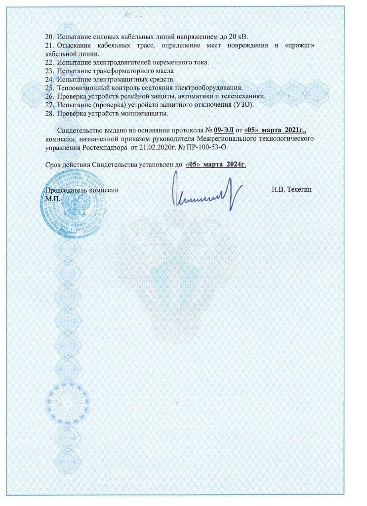 Свидетельство о регистрации (обратная сторона)